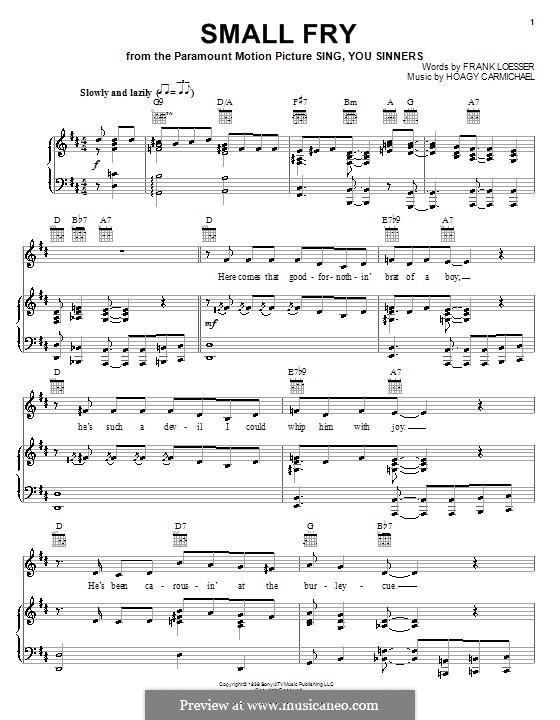 Small Fry: Para vocais e piano (ou Guitarra) by Hoagy Carmichael