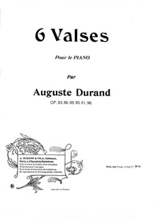Waltz in E Flat Major, Op.83: Para Piano by Auguste Durand
