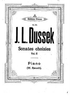 Three Sonatas for Piano, Op.39: No.2 em C maior, Craw 167 by Jan Ladislav Dussek