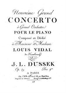 Piano Concerto in G Minor, Op.49 Craw 187: Piano Concerto in G Minor by Jan Ladislav Dussek