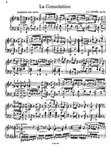 La consolation, Op.62 Craw 212: Para Piano by Jan Ladislav Dussek