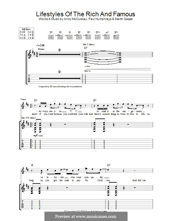 Lifestyles of the Rich and Famous (Good Charlotte): Para guitarra com guia by Benji Madden, Joel Madden