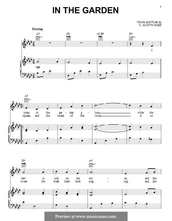 In the Garden: Para vocais e piano (ou Guitarra) by C. Austin Miles