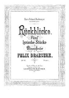 Rückblicke, Op.43: Rückblicke by Felix Draeseke