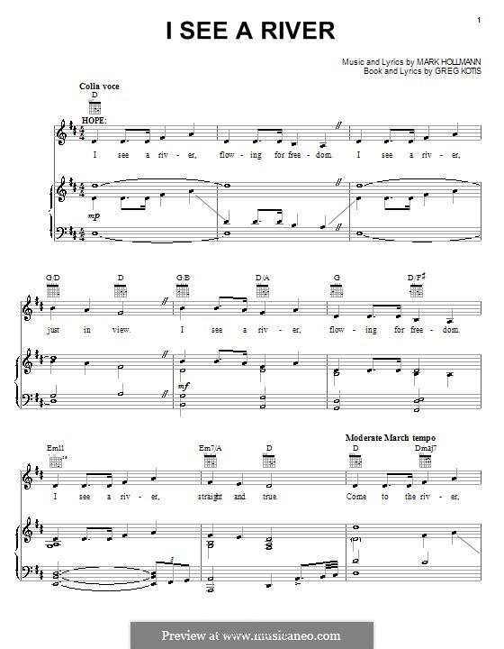 I See a River: Para vocais e piano (ou Guitarra) by Greg Kotis, Mark Hollmann