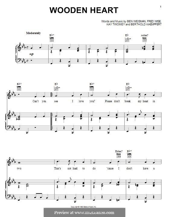 World We Knew (Over and Over): Para voz e piano ou guitarra (Elvis Presley) by Ben Weisman, Bert Kaempfert, Fred Wise, Kay Twomey