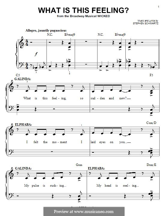 What Is This Feeling?: Facil para o piano by Stephen Schwartz