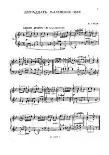 Twelve Short Pieces: set completo by Joseph Haydn
