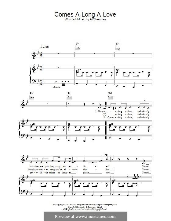 Comes A-Long A-Love: Para vocais e piano (ou Guitarra) by Al Sherman