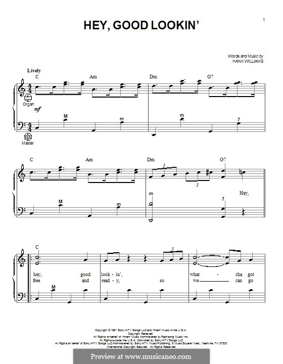 Hey, Good Lookin': para acordeão by Hank Williams