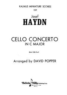 Concerto for Cello and Orchestra No.5 in C Major, Hob.VIIb/5: partitura completa by Joseph Haydn