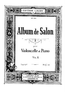 Romance for Cello and Piano, Op.12 No.1: partitura, parte solo by William ten Have