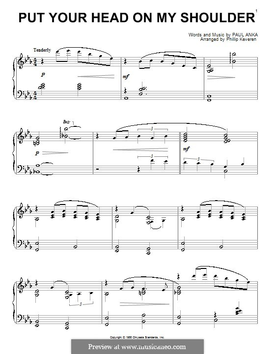 Put Your Head on My Shoulder: Para Piano by Paul Anka