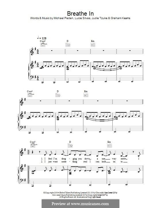 Breathe in: Para vocais e piano (ou Guitarra) by Graham Kearns, Judie Tzuke, Lucie Silvas, Mike Peden