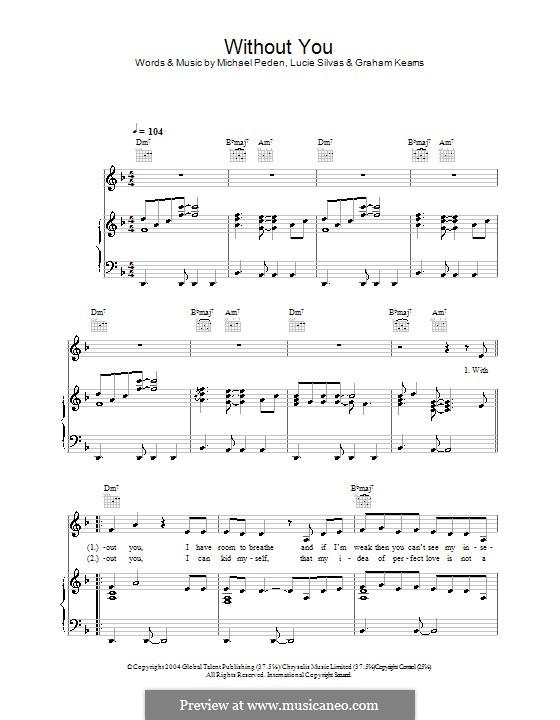 Without You: Para vocais e piano (ou Guitarra) by Graham Kearns, Mike Peden
