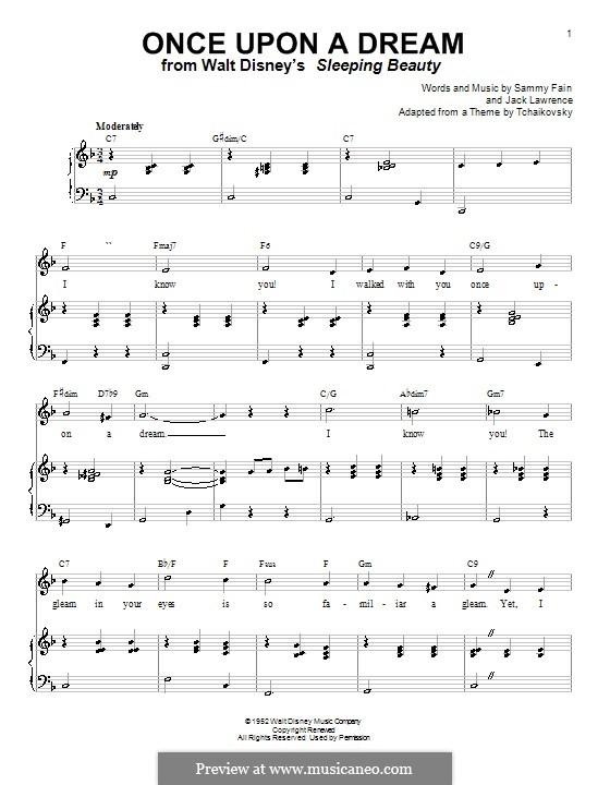 Once upon a Dream: Para vocais e piano (ou Guitarra) by Jack Lawrence, Sammy Fain