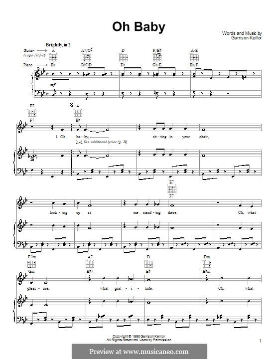 Oh Baby: Para vocais e piano (ou Guitarra) by Garrison Keillor