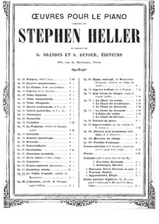 Improvisation on 'On Wings of Song' by Mendelssohn, Op.67: Improvisation on 'On Wings of Song' by Mendelssohn by Stephen Heller