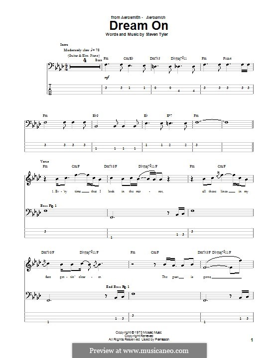 Dream On (Aerosmith): para baixo com guia by Steven Tyler