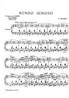 Collection of 'Forgotten Music': Rondo Serioso by Adolf von Henselt