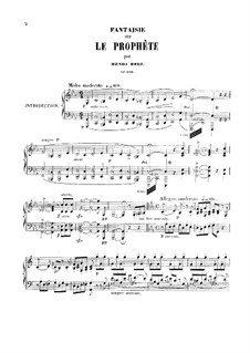 Fantasia on Theme from 'Le Prophete' by Meyerbeer, Op.183: Para Piano by Henri Herz