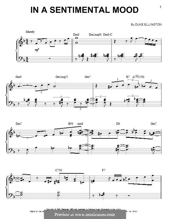 In a Sentimental Mood: Para Piano by Irving Mills, Duke Ellington, Manny Kurtz