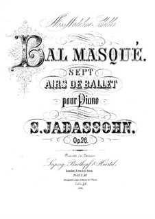 Masked Ball, Op.26: Masked Ball by Salomon Jadassohn