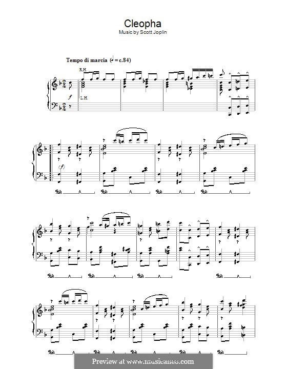 Cleopha: Para Piano by Scott Joplin
