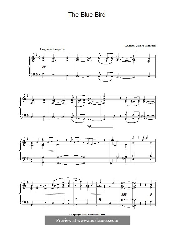 The Blue Bird: Para Piano by Charles Villiers Stanford