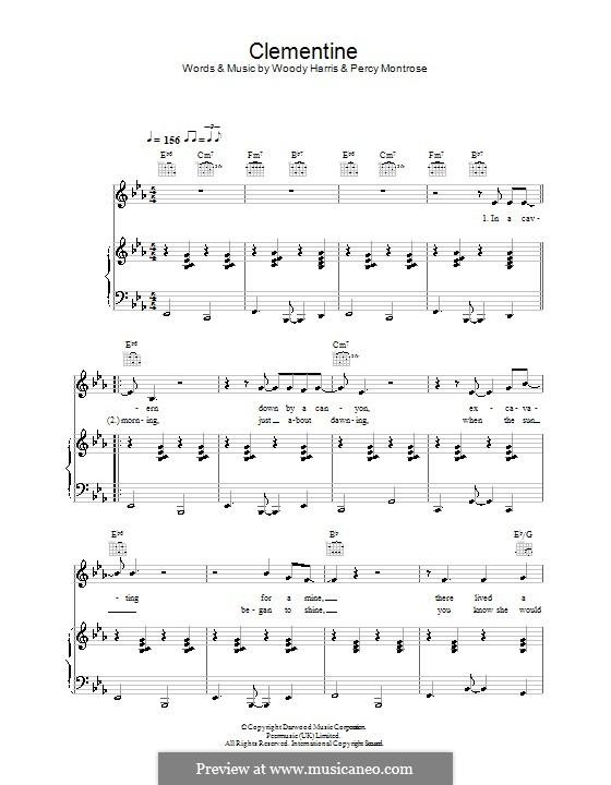 Clementine (Bobby Darin): Para vocais e piano (ou Guitarra) by Percy Montrose, Woody Harris