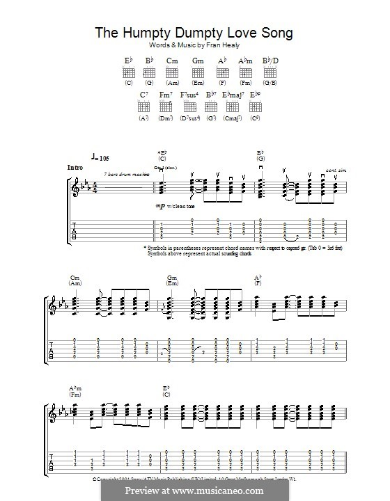 The Humpty Dumpty Love Song (Travis): Para guitarra com guia by Fran Healy