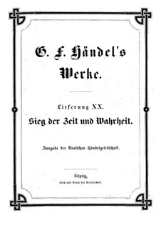 The Triumph of Time and Truth, HWV 71: partitura completa by Georg Friedrich Händel
