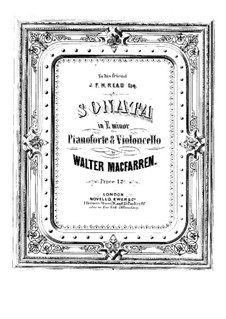 Sonata for Cello and Piano in E Minor: Sonata for Cello and Piano in E Minor by Walter Macfarren