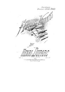 Feuilles volantes, Op.1: Feuilles volantes by Henri Duparc