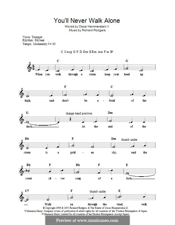 You'll Never Walk Alone (from Carousel): para teclado by Richard Rodgers