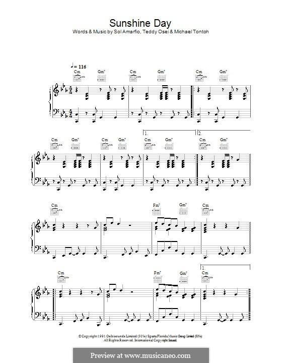 Sunshine Day (Osibisa): Para vocais e piano (ou Guitarra) by Michael Tontoh, Sol Amarfio, Teddy Osei