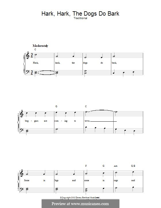 Hark Hark the Dogs Do Bark: Para vocais e piano by folklore