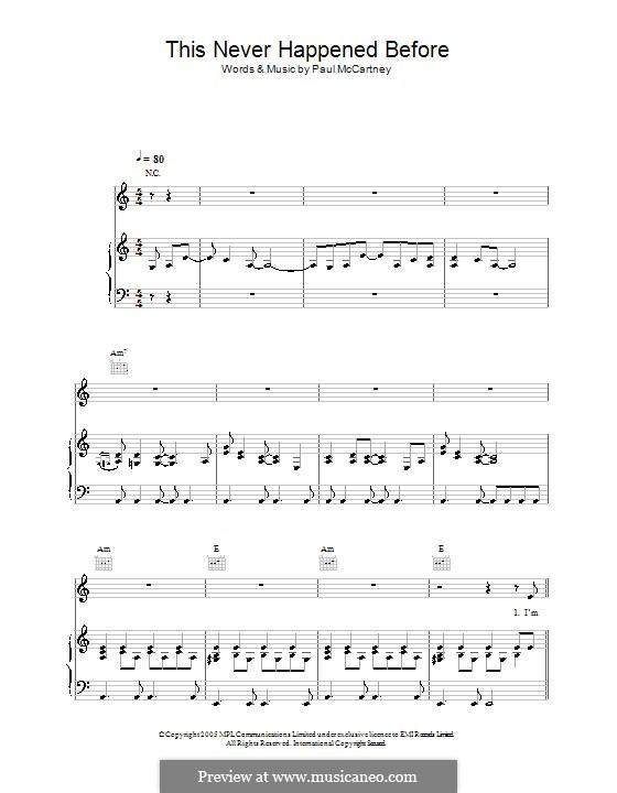 This Never Happened Before: Para vocais e piano (ou Guitarra) by Paul McCartney