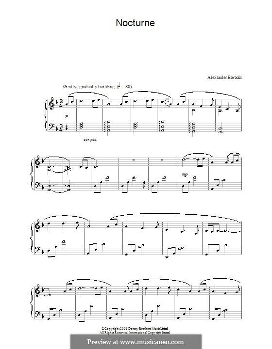 Nocturne: noturno by Alexander Borodin