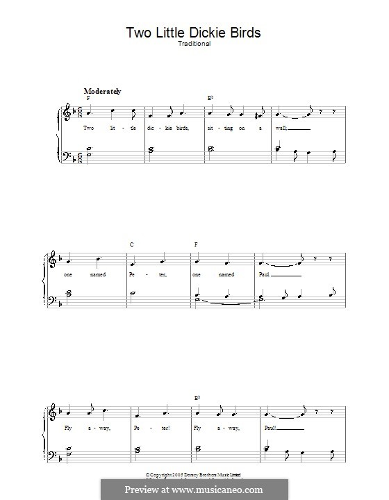 Two Little Dickie Birds: Para vocais e piano by folklore
