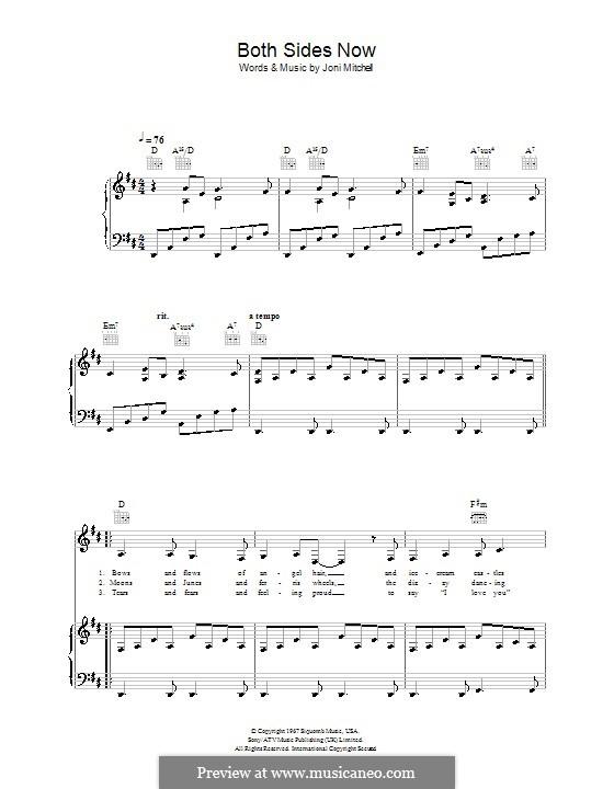Both Sides Now: Para vocais e piano (ou Guitarra) by Joni Mitchell