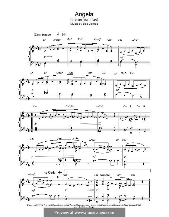 Angela (theme from Taxi): Para Piano by Bob James