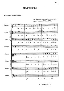 Motet 'Jubilate Deo omnis terra': Motet 'Jubilate Deo omnis terra' by Ruggiero Giovannelli