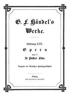 Il Pastor Fido, HWV 8a: Il Pastor Fido by Georg Friedrich Händel
