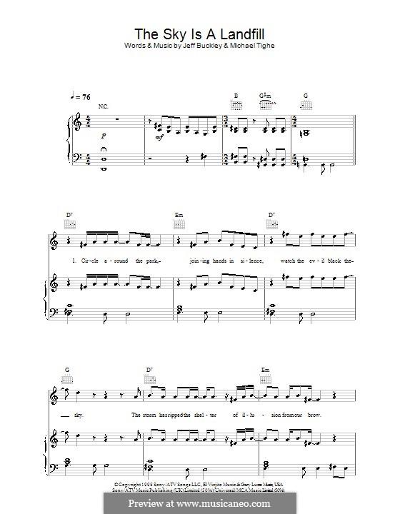 The Sky Is a Landfill: Para vocais e piano (ou Guitarra) by Michael Tighe