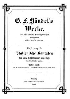 Italian Cantatas: livro I by Georg Friedrich Händel