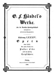 Terpsicore e Pastor Fido, HWV 8b: Terpsicore e Pastor Fido by Georg Friedrich Händel
