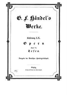 Teseo, HWV 9: partitura completa by Georg Friedrich Händel