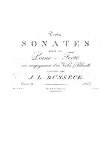Three Sonatas for Piano Trio, Op.29: Três sonatas para trio de piano by Jan Ladislav Dussek