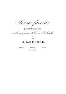 Sonata for Piano Trio, Op.37 Craw 169: Sonata for Piano Trio by Jan Ladislav Dussek